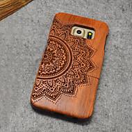 Для Кейс для  Samsung Galaxy Чехлы панели С узором Задняя крышка Кейс для Имитация дерева Дерево для Samsung S6 edge plus S6 edge S6
