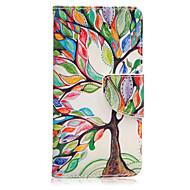 Недорогие Чехлы и кейсы для Galaxy A5(2016)-Кейс для Назначение SSamsung Galaxy Кейс для  Samsung Galaxy Бумажник для карт / со стендом / Флип Чехол дерево Кожа PU для A5(2016) / A3(2016)