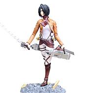 애니메이션 액션 피규어 에서 영감을 받다 Attack on Titan Mikasa Ackermann 24 CM 모델 완구 인형 장난감