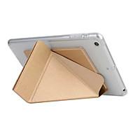 economico Accessori iPad-Custodia Per Apple iPad iPad Air 2 Standby automatico / accendimento automatico Origami Integrale Tinta unica Resistente pelle sintetica
