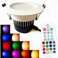 LED nedlys 18PCS leds SMD 5730 Dekorativ Dæmpbar Lydaktiveret Fjernstyret Varm hvid Kold hvid Naturlig hvid RGB 650lm RGBWK Vekselstrøm