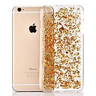 Capinha Para Apple iPhone 8 / iPhone 8 Plus / iPhone 6 Plus Transparente Capa traseira Glitter Brilhante Macia TPU para iPhone 8 Plus / iPhone 8 / iPhone 6s Plus
