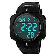 SKMEI Мужской Спортивные часы электронные часы LCD Календарь Секундомер Защита от влаги тревога Цифровой Pезина Группа