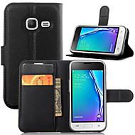 Na Samsung Galaxy Etui Portfel / Etui na karty / Z podpórką / Flip Kılıf Futerał Kılıf Jeden kolor Skóra PU SamsungJ5 (2016) / J3 Pro /