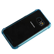 cheap Cases / Covers for Samsung-Case For Samsung Galaxy Samsung Galaxy Case Shockproof Transparent Back Cover Solid Color PC for S7