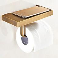 お買い得  -トイレットペーパーホルダー アンティーク 真鍮 1枚 - ホテルバス