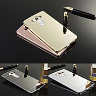 お買い得  携帯電話ケース-ケース 用途 LG LGケース メッキ仕上げ ミラー バックカバー 純色 ハード アクリル のために LG V10