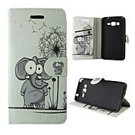 Для Кейс для  Samsung Galaxy Бумажник для карт / Кошелек / со стендом / Флип Кейс для Чехол Кейс для Слон Искусственная кожа SamsungTrend