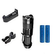 preiswerte Taschenlampen, Laternen & Lichter-2000 lm LED Taschenlampen Cree XR-E Q5 3 Modus ZK50 - Zoomable- / Wasserfest / einstellbarer Fokus