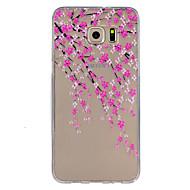 Mert Samsung Galaxy S7 Edge Ultra-vékeny / Dombornyomott Case Hátlap Case Virág TPU SamsungS7 plus / S7 Active / S7 edge plus / S7 edge /