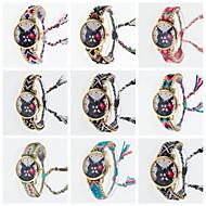 abordables Relojes de Moda-Mujer Reloj de Moda Cuarzo Tejido Banda Múltiples Colores