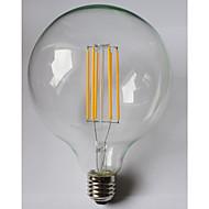 8W E26/E27 LED-hehkulamput G125 8 ledit COB Vedenkestävä Koristeltu Lämmin valkoinen Amber 980lm 2700K AC 85-265V