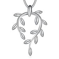 Naisten Riipus-kaulakorut Korut Leaf Shape Hopeoitu Yksinkertainen Korut Käyttötarkoitus Häät Party Erikoistilaisuus Syntymäpäivä Kihlaus
