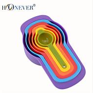 abordables Medidores y Balanzas-accesorios de cocina conjunto de 6 cuchara dosificadora de plástico w / capacidad diferente (ml) de herramientas de la torta polvo que el