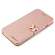 Недорогие Кейсы для iPhone 8-Кейс для Назначение Apple iPhone X iPhone 8 Кейс для iPhone 5 Бумажник для карт со стендом Флип Чехол Сплошной цвет Твердый Кожа PU для