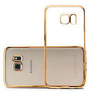 cheap Cases / Covers for Samsung-Case For Samsung Galaxy Samsung Galaxy S7 Edge Plating Ultra-thin Transparent Back Cover Solid Color TPU for S7 edge S7 S6 edge S6