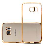 Недорогие Чехлы и кейсы для Galaxy S7 Edge-Кейс для Назначение SSamsung Galaxy Samsung Galaxy S7 Edge Покрытие / Ультратонкий / Прозрачный Кейс на заднюю панель Однотонный ТПУ для S7 edge / S7 / S6 edge