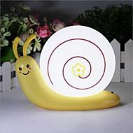 Lâmpada de caracol da cabeça de uma cama usb de emergência levou luz da noite para decoração kids room casa (cor aleatória)