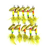 "10pcs τεμ Atrăgătoare Pescuit Buzzbait & Spinnerbait δόλωμα Κουτάλια Τυχαία Χρώματα ζ/Ουγκιά,55mm mm/2-1/4"" ίντσα,Φτερό ΜεταλλικόΘαλάσσιο"