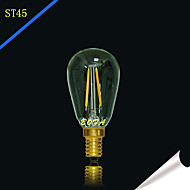 2W E14 E12 LED Globe Bulbs Tube 2 COB 100-200lm Warm White 2200K 2700K Dimmable Decorative AC 220-240 AC 110-130V