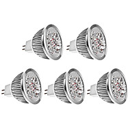 4w gu5.3 led spotlight mr16 4 hög effekt led 400-450 lm varm vit dc 12 v 5 st