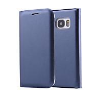 お買い得  携帯電話ケース-ケース 用途 Samsung Galaxy Samsung Galaxy ケース フリップ フルボディーケース ソリッド PUレザー のために A3(2017) / A5(2017) / A7(2017)