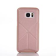 For Samsung Galaxy etui Origami Magnetisk Etui Bagcover Etui Helfarve PC for Samsung S6 edge plus S6 edge S6