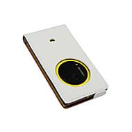 Varten Nokia kotelo Flip Etui Kokonaan peittävä Etui Yksivärinen Kova Tekonahka Nokia Nokia Lumia 1020