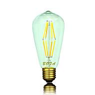 お買い得  LED ボール型電球-6 W 500-600 lm B22 / E26 / E26 / E27 LEDボール型電球 ST64 8 LEDビーズ COB 調光可能 / 装飾用 温白色 220-240 V / 110-130 V