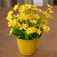 şube İpek Plastik Papatyalar Masaüstü Çiçeği Yapay Çiçekler