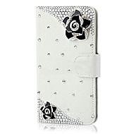 luxe bling kristal diamant portemonnee flip-kaart bij dekking voor Samsung S3 / S4 / S5 / S6 / S6 edge / s6 edge + / S7 / s7edge