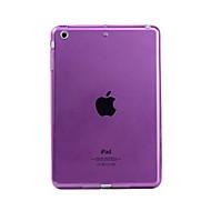 abordables Accessoires pour iPad-Coque Pour Apple Transparente Coque Couleur Pleine Flexible TPU pour iPad Mini 3/2/1 / iPad Mini 4 / Apple