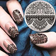 2016 nieuwste versie mode patroon kant bloem nail art afbeelding stempelen template platen