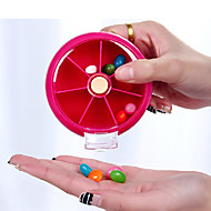 お買い得  トラベル小物-旅行用ピルケース 携帯用 旅行用緊急グッズ プラスチック 9*9*2.2cm cm