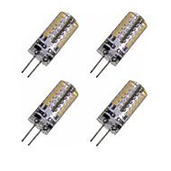 お買い得  LED コーン型電球-4本 2W 150-200lm G4 LEDコーン型電球 T 48 LEDビーズ SMD 3014 装飾用 温白色 / クールホワイト 12V / 4個 / RoHs