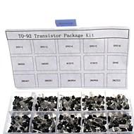 お買い得  Arduino 用アクセサリー-750pcs 15kindsx50pcsへ-92トランジスタキット+リテールボックス(a1015、c945、c1815、S8050、s9012,2n2222 ...)