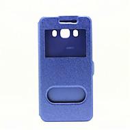 Для Samsung Galaxy S7 Edge со стендом / с окошком / Флип Кейс для Чехол Кейс для Один цвет Искусственная кожа SamsungS7 edge / S7 / S6