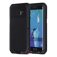 Недорогие Чехлы и кейсы для Galaxy S6 Edge Plus-Кейс для Назначение SSamsung Galaxy Кейс для  Samsung Galaxy Защита от удара Водонепроницаемый Чехол броня Металл для S6 edge plus S6 edge