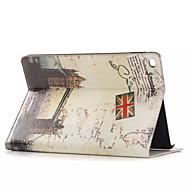 Χαμηλού Κόστους Θήκες/Καλύμματα για iPad-τόποι ιστορικού δερμάτινη θήκη ενδιαφέροντος με τους κατόχους καρτών για τον αέρα μήλο ipad, Smart Cover δερμάτινη θήκη