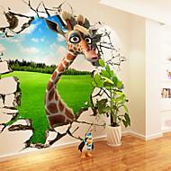 Tiere / Cartoon Design Wand-Sticker 3D Wand Sticker,Canvas S M L XL XXL 3XL
