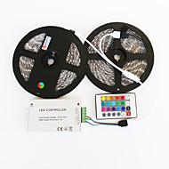 halpa LED-hehkulamput-10 tuumaa RGB-valonauhat 600 LEDit 5050 SMD RGB Kauko-ohjain / Leikattava / Himmennettävissä 12 V / IP65 / Vedenkestävä / Ajoneuvoihin sopiva / Itsekiinnittyvä / Vaihtuva väri