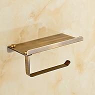 お買い得  浴室用小物-トイレットペーパーホルダー アンティーク 真鍮 1枚 - ホテルバス