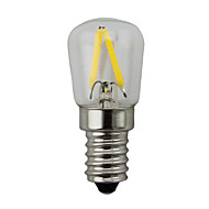 2W E14 Bombillas LED de Globo S14 2 leds COB Regulable Blanco Cálido 150-200lm 2700K AC 100-240V