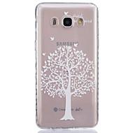 Для Кейс для  Samsung Galaxy Прозрачный Кейс для Задняя крышка Кейс для дерево Мягкий TPUJ7 / J5 (2016) / J5 / J3 / J2 / J1 (2016) / J1