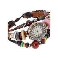 Mujer Reloj de Moda Reloj Pulsera Digital Piel Banda Bohemio Marrón Marrón