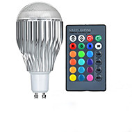 10W GU10 LED Globe Bulbs A50 1 High Power LED lm RGB 2000-3500 K Remote-Controlled AC 85-265 V