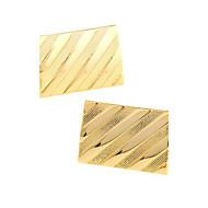 cheap Cufflinks-Golden Cufflinks Alloy Work / Casual Men's Costume Jewelry For