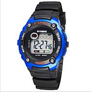 SYNOKE Niño Reloj Deportivo Reloj de Pulsera Digital LCD Calendario Cronógrafo Resistente al Agua alarma Luminoso Caucho Banda Negro