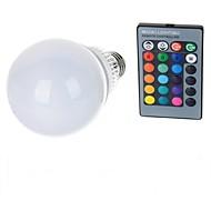 Χαμηλού Κόστους LED Λάμπες Σφαίρα-10W E26/E27 LED Λάμπες Σφαίρα A70 1 leds LED Υψηλης Ισχύος Τηλεχειριζόμενο RGB 100-200lm 2000-3500K AC 85-265V
