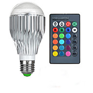 お買い得  LED ボール型電球-1個 10 W 750 lm E26 / E27 LEDスマート電球 1 LEDビーズ ハイパワーLED リモコン操作 / 装飾用 / カラーグラデーション RGB 85-265 V / # / 1個 / RoHs